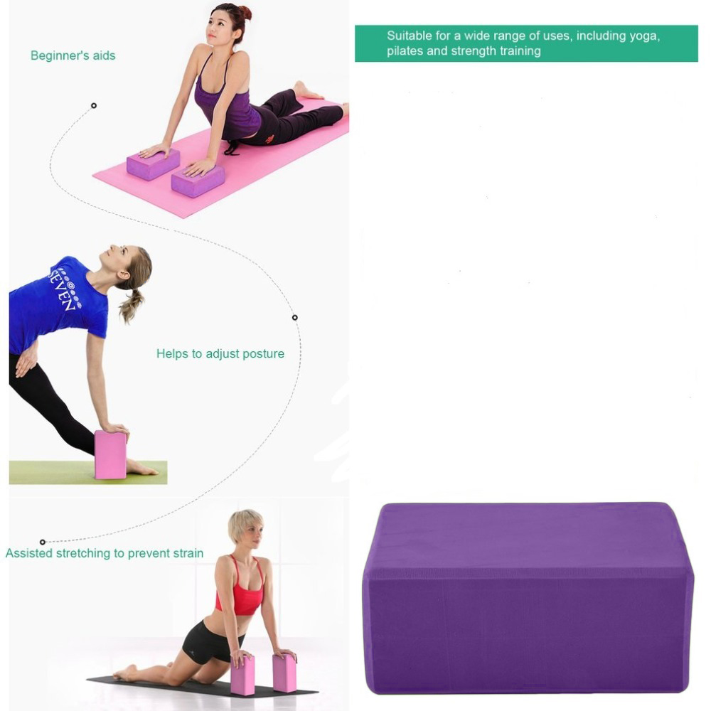 YOGA BRICK BLOCK PILATES FOR GYM FITNESS EXERCISE SUPPORT BLOCK LIGHTWEIGHT