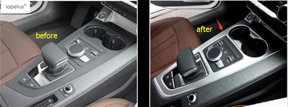 Accessories For Audi A4 B9 Sedan / Avant Allroad Quattro 2016 2018 Transmission Shift Gear / Water Cup Holder Panel Cover Trim
