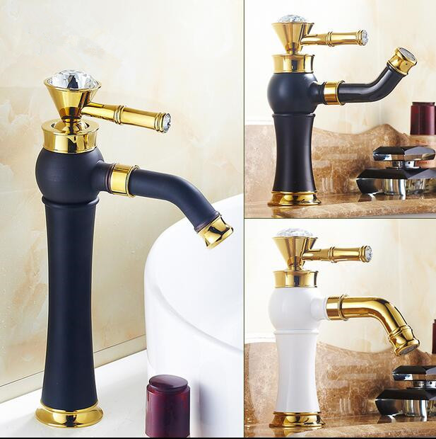 Bathroom faucet Antique faucet Brass Retro faucet Basin mixer Paint mixer 360 degree rotation hot and cold Water Taps torneira bathroom faucet into the wall cold and hot water taps embedded type mixer double handles table basin wash basin faucet torneira