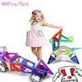 Mini 90 Unids/lote Modelos y Juguete Del Edificio Magnético Ladrillos Niños Juguetes De Plástico Bloques de Construcción para Niños Bloques de Montaje de Juguetes de Diseño