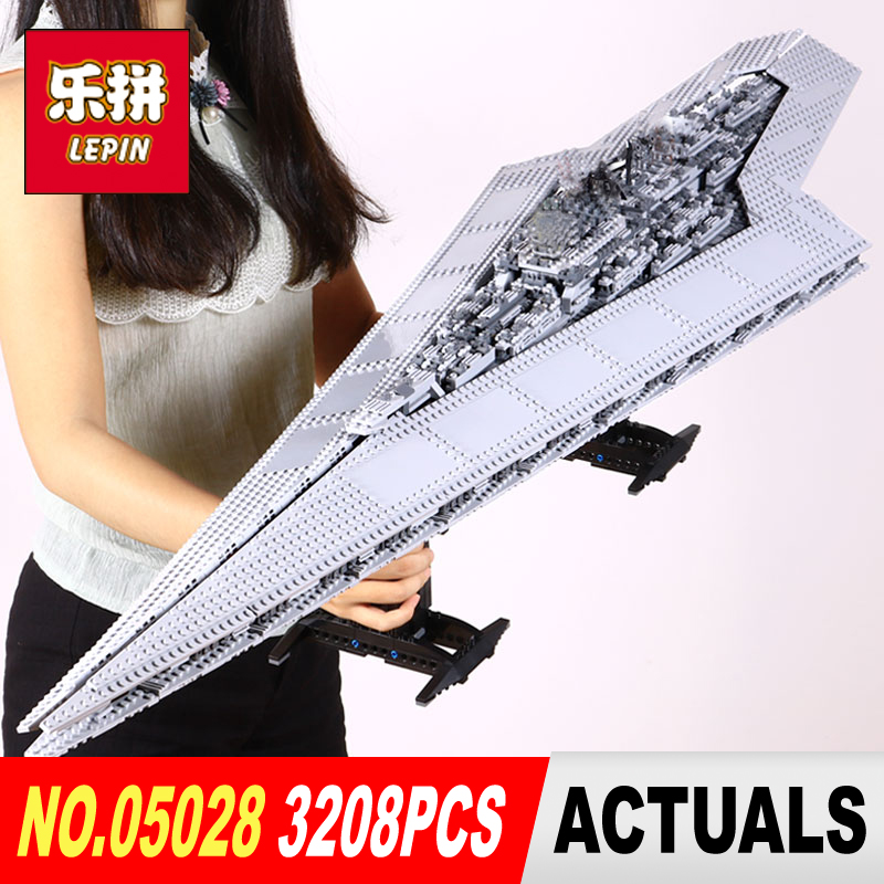 LEPIN 05028 Super Star Destroyer Model Building Kid Blocks Toys For Boys Brick Compatible LegoINGys 10221 to Boy Gifts WARS lepin 05028 star 3208pcs toy wars execytor super star destroyer model building kit block brick compatible 10221 boy gifts