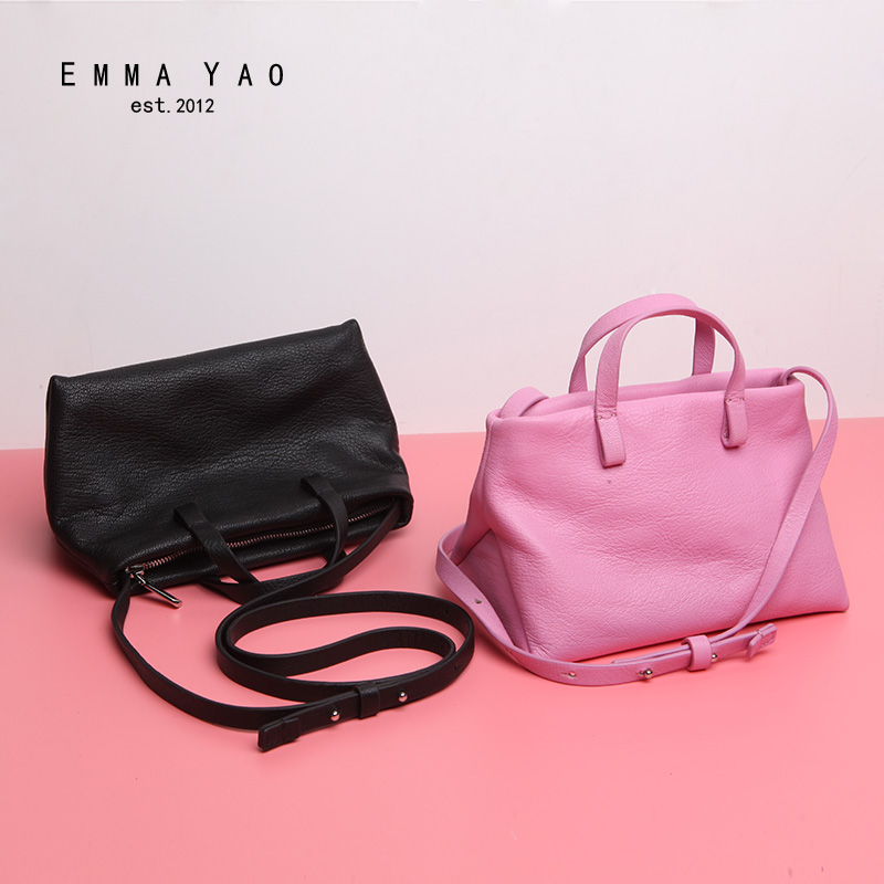 EMMA YAO women bag leather crossbody bag fashion korean tote bag brand shoulder bags emma yao women bag leahter shoulder bags famous brand crossbody bags