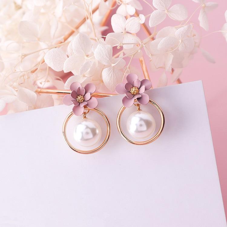 Dominated New Pearl Joker Fashion Earrings Temperament Long Geometric Women Drop Earrings Jewelry