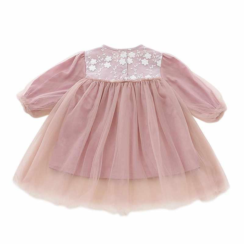 Bambino Vestito Dalla Ragazza Della Principessa Del Capretto Vestiti di Abiti A Manica Lunga Per Le Ragazze Del Partito Dei Bambini Abiti Vestiti