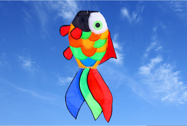 Envío gratis peces windsocks kite colas ripstop tela de nylon kite águila volando cometa corazón hermoso hcxkite
