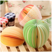 Novelty DIY Fruit Design Memo Pad Sticky Apple Pear Shape Notes Memo Notebook Pad Friend Gift Desktop Decorate Office Stationery