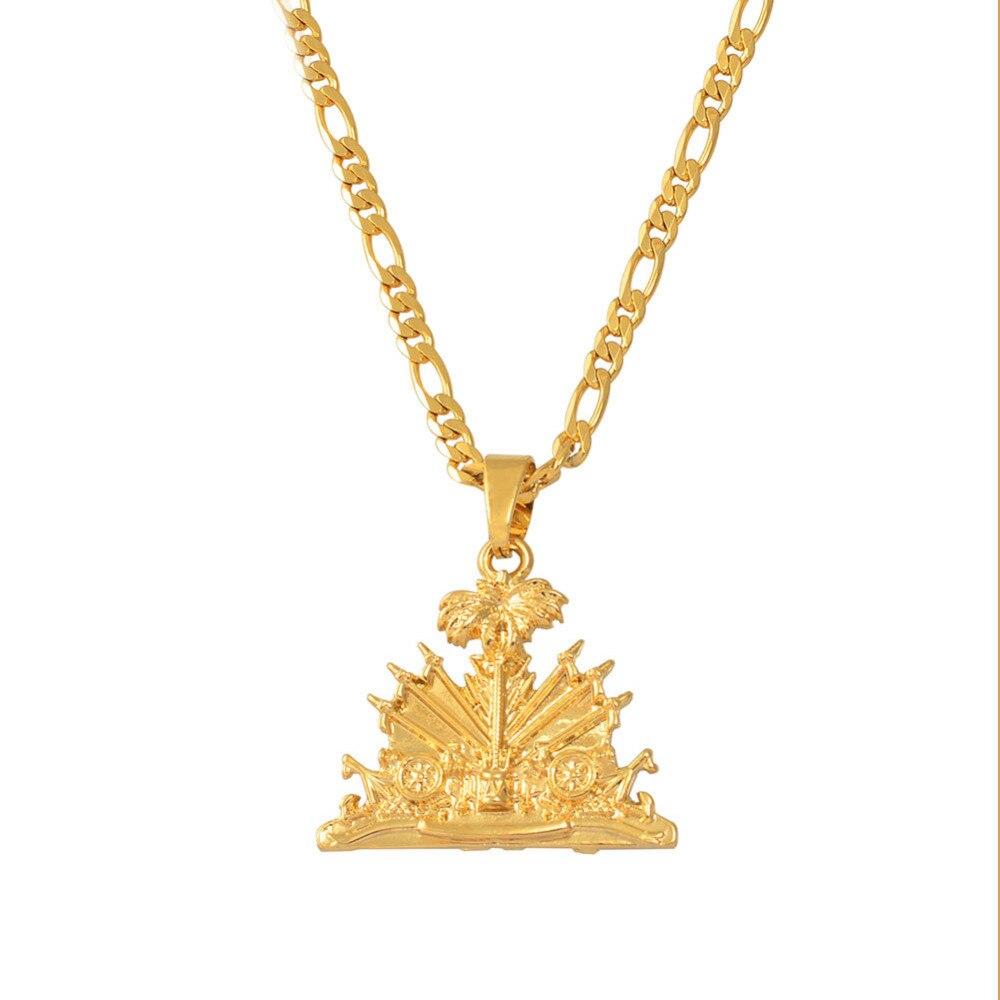 Haiti Pendant Necklace for Women/Girls/Men Ayiti Items Gold Color Jewelry Gifts of HaitiHaiti Pendant Necklace for Women/Girls/Men Ayiti Items Gold Color Jewelry Gifts of Haiti