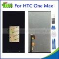 Для HTC ONE MAX T6 8088 8060 M09D Полный Черный дигитайзер Сенсорным Экраном Панели Датчик + ЖК-Дисплей Монитора В Сборе + инструменты
