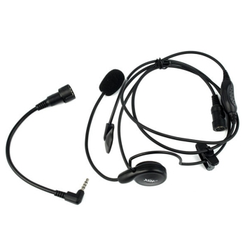 Advanced Unilateral Headphone Mic Neckband Earpiece Cycling Field Tactical Headset For Yaesu Vertex VX-3R FT50R 60R Radio тангента для рации yaesu vx 3r ft 60r 250r mh 34 b4b