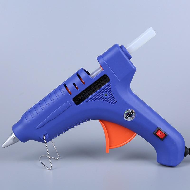 80W EU Plug Professional High Temp Hot Melt Glue Gun Graft Repair Heat Gun  Pneumatic Silicone Gun DIY Tools Use 11mm Glue Sticks