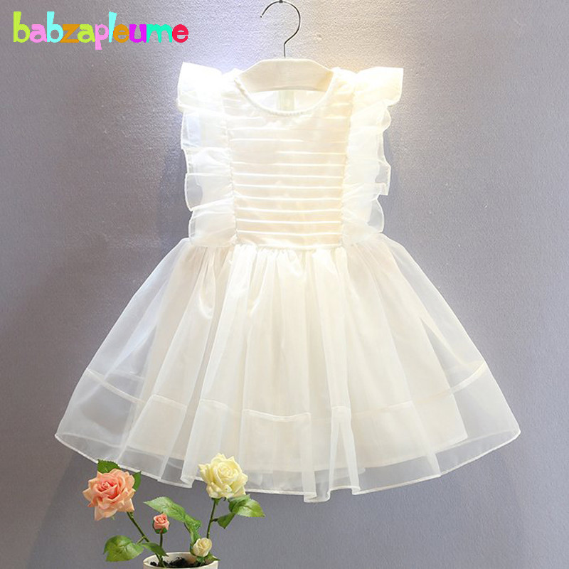 2 6Years Summer Kids Dress Baby Girls Clothes Lace Tutu Cute Bow Princess Dresses For Party