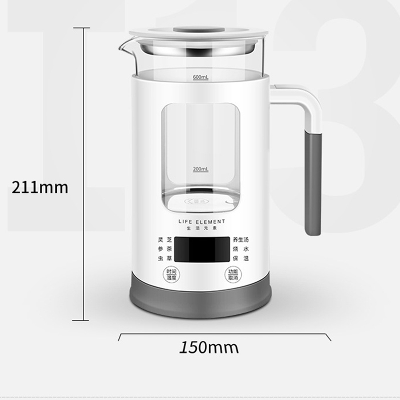 Mini Multi function Electric Kettle Health Preserving Pot Glass Boiled Tea Pot Hot Water bottle Warm Kettle 220V 600ML in Electric Kettles from Home Appliances