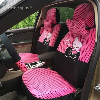 Universal Car Seat Covers Cartoon Hello Kitty Interior Accessories For 5