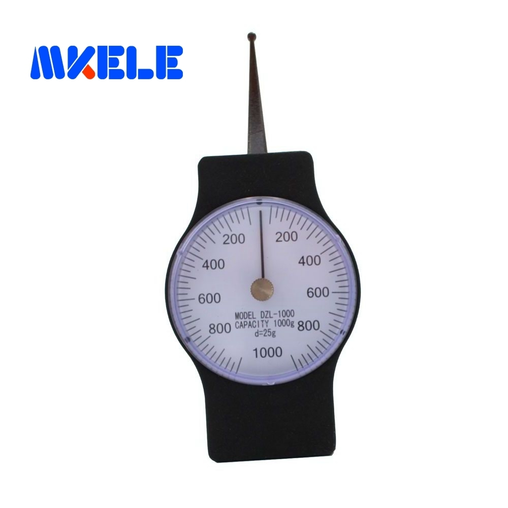 SEG-1000-1 1000g Tensiometer Analog Dial Gauge Single Pointer Force Tools Tension Meter electric corn dog waffle maker muffin corn machine commercial corn waffle maker