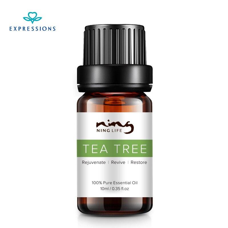 EXPRESSIONS 100% Australia Pure Tea Tree Essential Oil for Acne Treatment and Remove Whelk Shrink Pore Face Care Tea Tree Oil