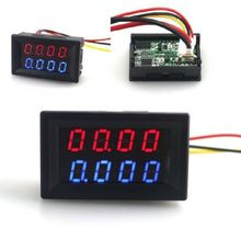Digital DC Voltmeter Ammeter 4 Bit 5 Wires DC 200V 10A Voltage Current Meter Power Supply Red Blue LED Dual Display