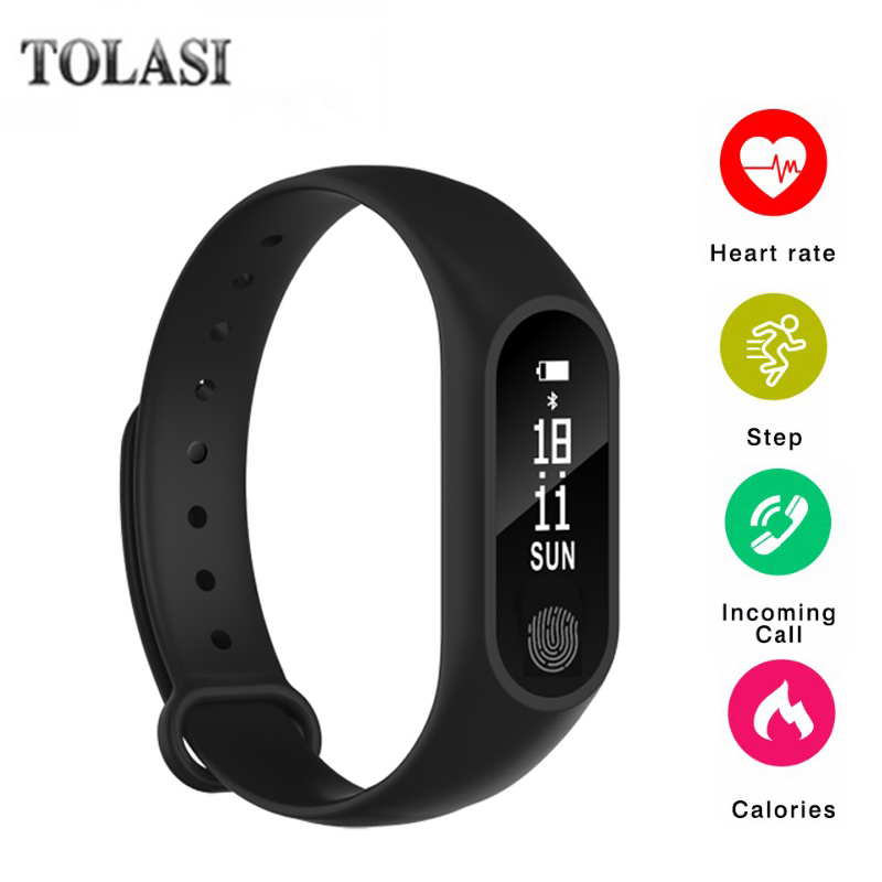 TOLASI M2 Smart Fitness Bracelet Watch Wristband Miband OLED Touchpad Sleep Monitor Heart Rate PK xiaomi mi band 2 цена