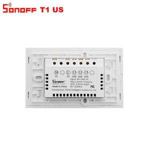 Image 5 - Itead Sonoff T1 US Wifi interrupteur mural relais de lumière sans fil 315MHz RF/tactile/App contrôle commutateur intelligent fonctionne avec Alexa Google Home