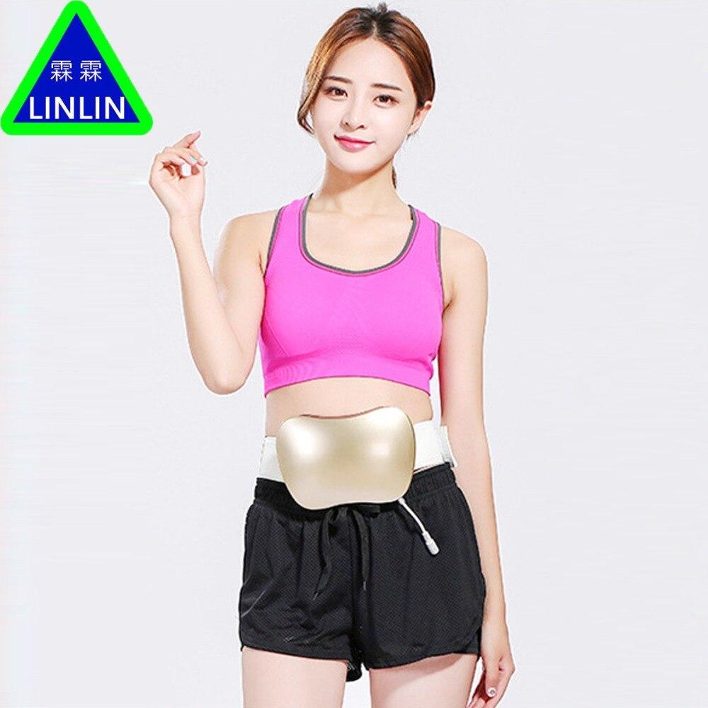 Rechargeable women waist slimming belt belly.Electric back shoulder buttock vibration anti cellulite massager.Fat burner machine