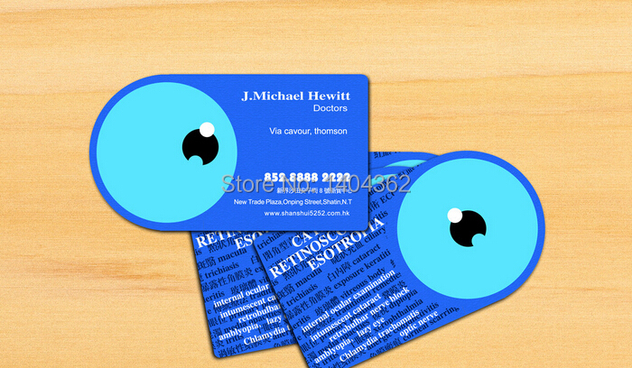 free design 500pcslot custom shape business cards name card printing business card printing business cards high quality in business cards from office - Name Card Printing