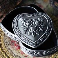3 Layer Heart Shape Vintage European Korean Princess Jewelry Box Desktop Storage Box Home Decoration Desk Sets