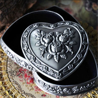 3 Layer Heart Shape Vintage European Korean Princess Jewelry Box Desktop Storage Box Home Decoration Desk Sets