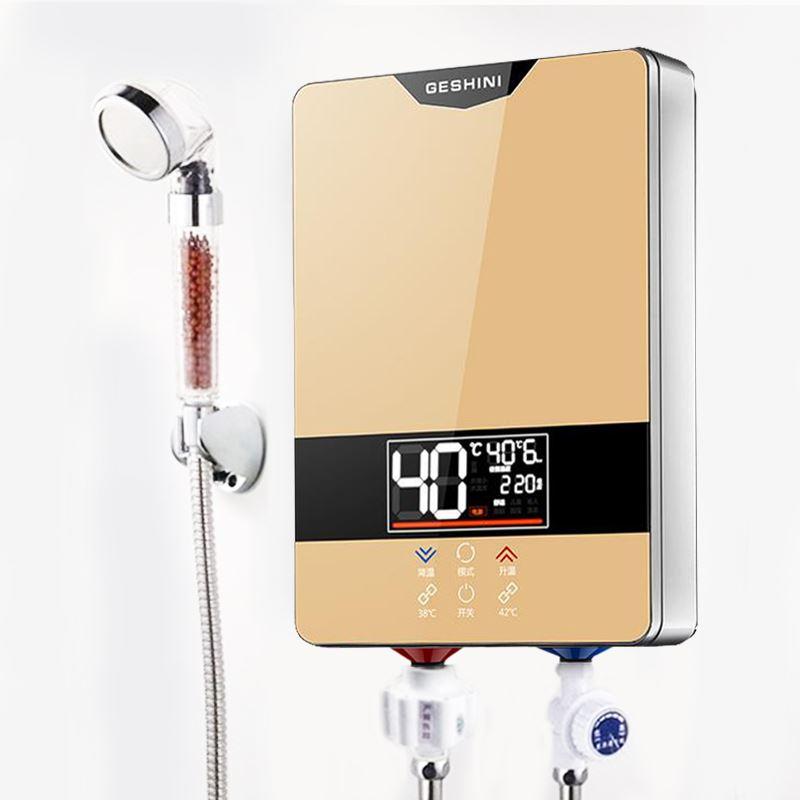 Chauffe-eau électrique instantané sans réservoir robinet cuisine robinet de chauffage rapide douche arrosoirs salle de bains LED affichage