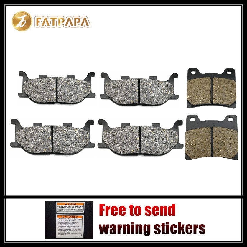 Motor Accessories FL + FR + R Brake Pads for YAMAHA 900 XJ S Diversion XJ900 1996 1997 1998 1999 2000 2001 2002 1995-2003 image