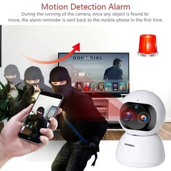 INQMEGA Cloud 1080P 2MP Dual-Lens Wireless IP Camera Wifi Auto Tracking Indoor Home Security Surveillance CCTV Network Camera 3