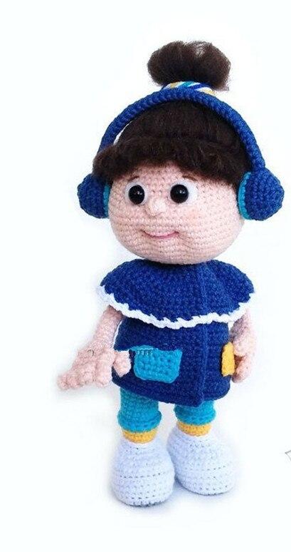 Jouets crochet amigurumi main filles hochet poupée modèle nombre ES0125