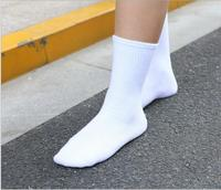 Socks Contracted Black And White Pure Cotton Stockings Texture In The Sack
