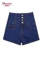 Deodar New Fashion Women High Waist Washed Solid Color Short Hot Sale Korean street style Mini Jeans Denim booty Black shorts