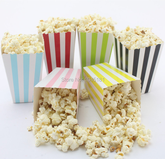 Ipalmay 1500pcs Wedding Favor Popcorn Bags Mini Dot Chevron Striped Food Candy Snack Gift Bo Party