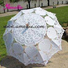 DHL,, белый и слоновой кости, кружевной Свадебный зонт