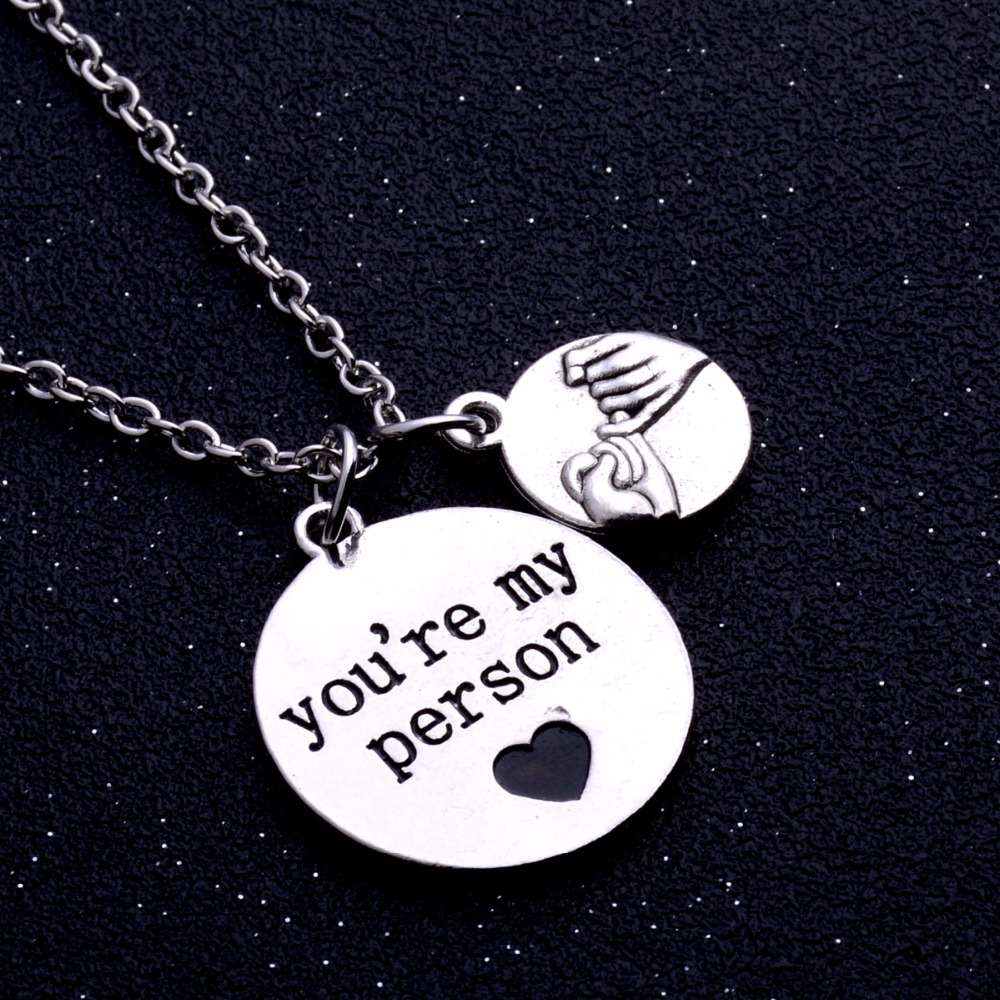 Bespmosp 24PC/Lot Newest You're My Person Forever Charm Chain Pendant Necklace Lovers Couples Jewelry Bijoux Gifts Hot