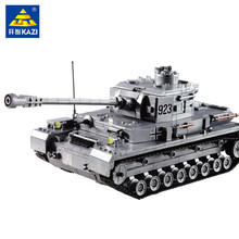 KAzi Model building kits city Century Military PZKPFW-II tanks blocks Educational toys hobbies for children Christmas gift