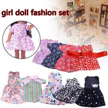 2019 New 14.5-inch American Girl Doll Fashion Set Girl Doll Coth Dress Fashion Toy Accessories Birthday Gift For Children(China)