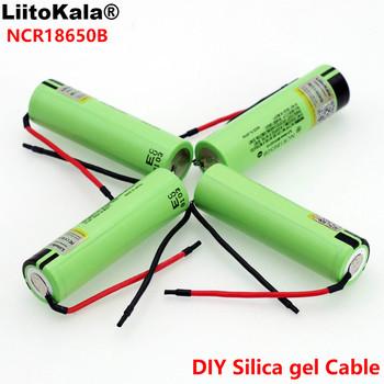 Liitokala nowy oryginalny NCR18650B 3 7 v 3400mAh 18650 Li-ion akumulator spawanie krzemionka kabel żelowany DIY tanie i dobre opinie 3001-3500 mAh Baterie Tylko 1-10PCS 67*18 2mm