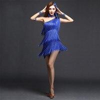 Lady Latin Dance Dress Tassel 3 Colors Vestidos Infantis Cha Cha Dance Dress Samba Costume Dance Clothing Competition