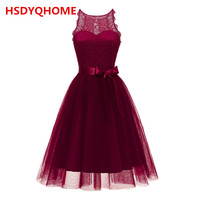 In Stock Women's short Evening dresses Lace A line Sexy Prom party gown cheap dress