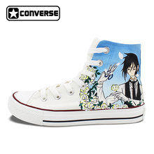 Anime Shoes Women Men Converse All Star Black Butler Design Custom Hand  Painted Shoes High Top Man Woman Sneakers Cosplay Gifts 7f69a8fdda22