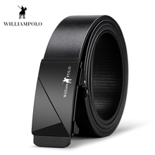 Williampolo 2019 High Quality Fashion Leather Automatic Buckle Metal Men Belt Male PL18171P