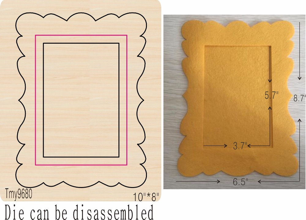 Photo frame 4 DIY new wooden mould cutting dies for scrapbooking Thickness 15 8mm Tmy9680 Tmy9680