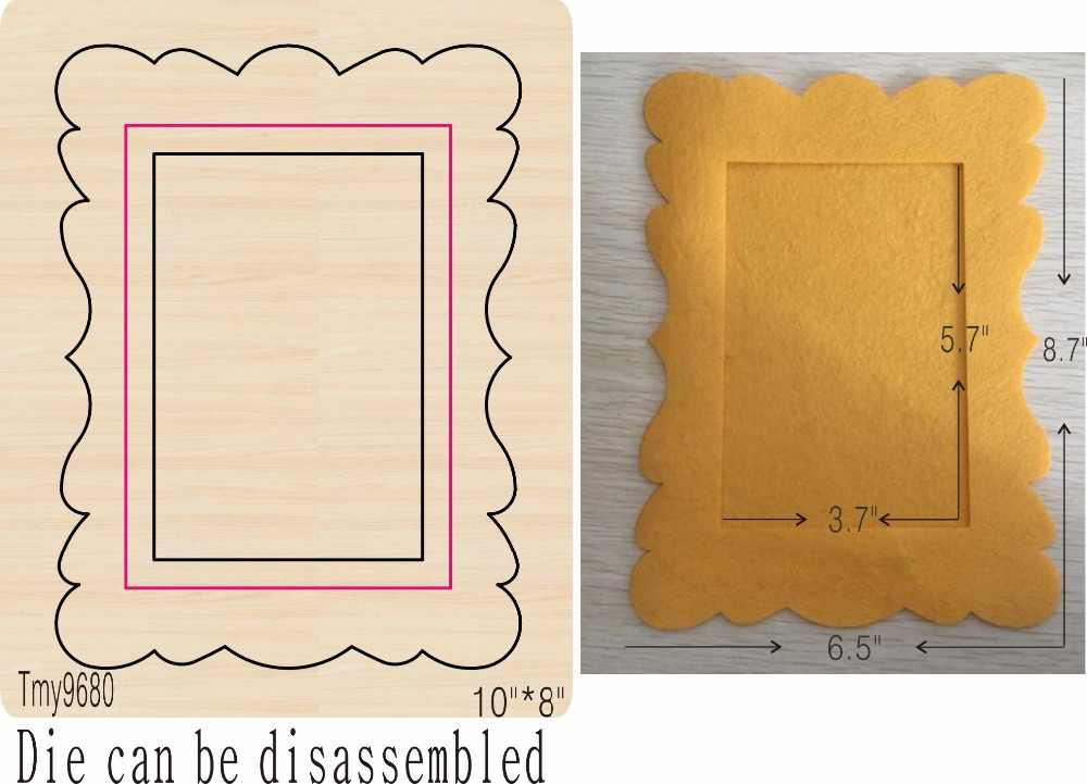 Photo frame-4 DIY new mould matrizes de corte de madeira para scrapbooking Thickness/15.8mm/Tmy9680 Tmy9680-1