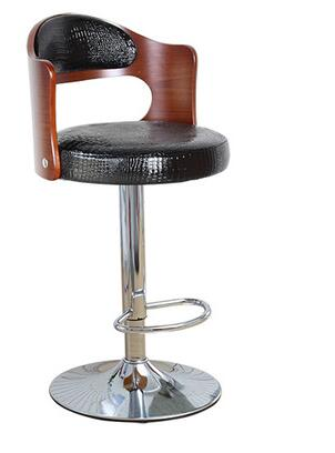European fashion bar chair.. Real wood chair real wood bar chair european bar chair iron art chair rotate the front chair