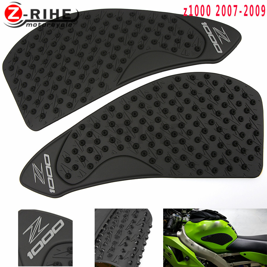 For KAWASAKI Z750 Z1000 2007 2008 2009 Motorcycle Tank Traction Pad Anti slip 3M sticker Side Decal Gas Knee Grip Protector 07 0