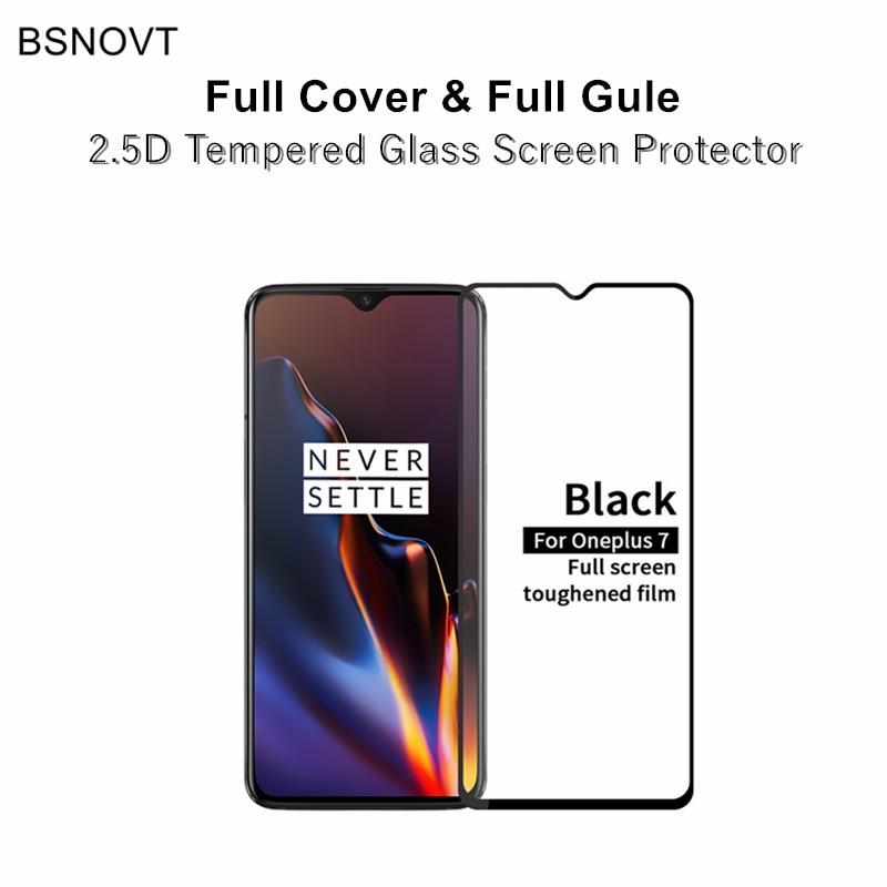 2pcs Full Cover & Full Glue Screen Protector For Oneplus 7 Glass Full Cover Tempered Glass For Oneplus 7 Phone Film For Oneplus7