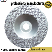 60grid diamond blade saw flat head for glasses vacuum brazed at good price and fast delivery 100x16