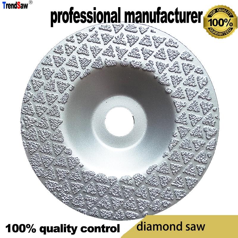 100 mm vacuümgesoldeerde diamantschijf voor het snijden van cementsteen, marmeren tegels tegen een goede prijs en snelle levering 100x16