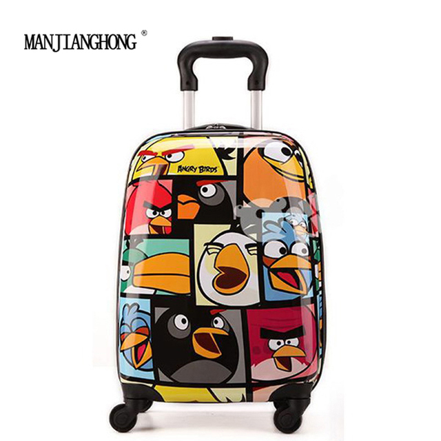 16inch New Hot sales cartoon boy children Suitcase,Child Kid Boy Girl ABS Cartoon trolley Luggage case Traveller Pull Rod Trunk